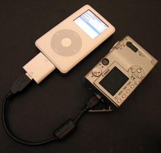 iPod'a Fotograf makinanızdaki resimleri atın ; Apple iPod Camera Connector