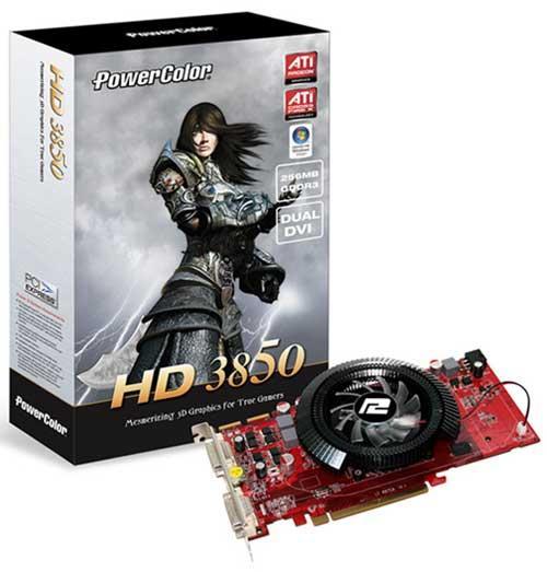 PowerColor'dan 256MB bellekli ve özel soğutuculu Radeon HD 3850