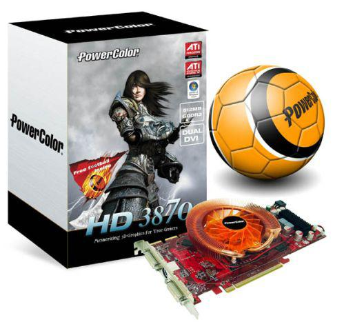 PowerColor Radeon HD 3870 Football Edition hazır