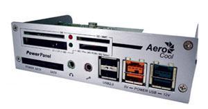 Aero-Cool Power Watch ve Power Panel ; Powered USB ile USB portundan 72Watt güç çekebilme olanağı