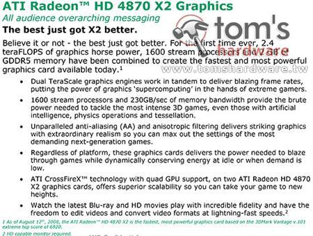 ATi Radeon HD 4870 X2'nin resmi detayları ortaya çıktı