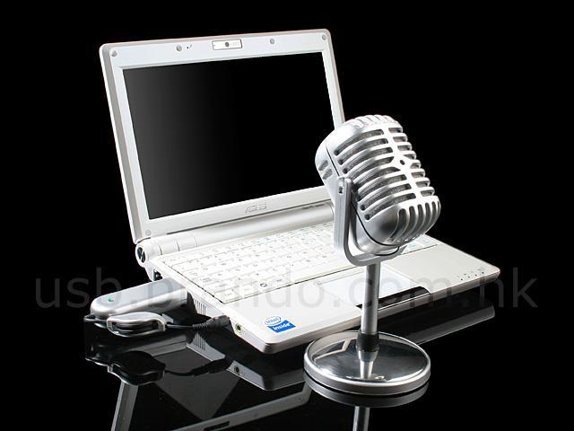 Retro tasarımlı kablosuz mikrofon ile havanız olsun