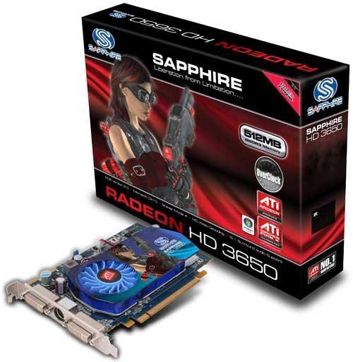 Sapphire'den arttırılmış saat hızları ile gelen Radeon HD 3650 OC Edition