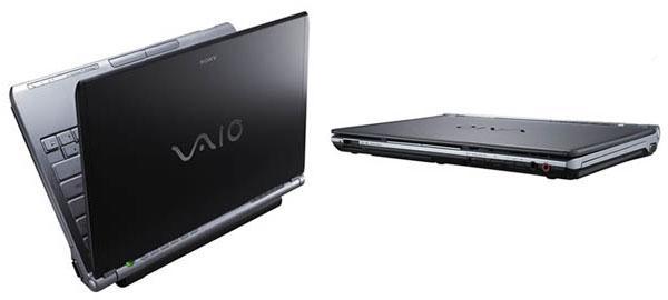 Sony Vaio VGN-TX3XP Dizüstü PC; 9 saat batarya ömrü, 1.25 kg ağırlık ve 272.4x195.1x28.5mm boyutlar