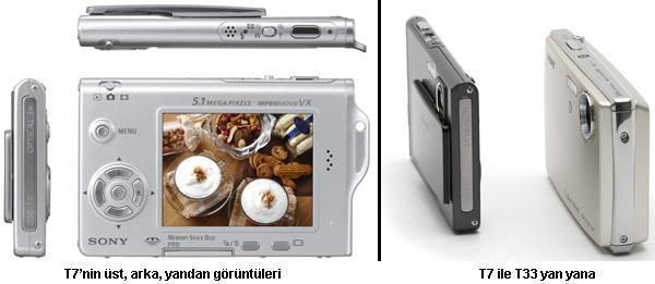 Sony'den DSC-T7 ; Olabildiğince küçük ve güçlü dijital fotoğraf makinası