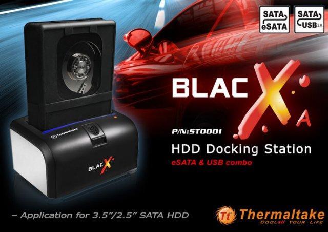 Thermaltake'den yeni sabit disk istasyonu; BlacX