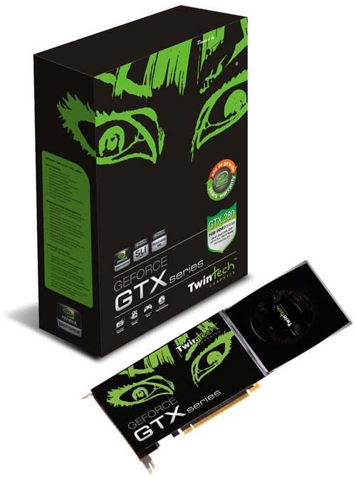 Twintech GeForce GTX 280 modelini duyurdu