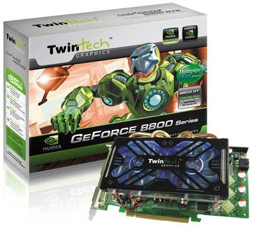 Twintech'den özelleştirilmiş soğutucuya sahip yeni GeForce 8800GT