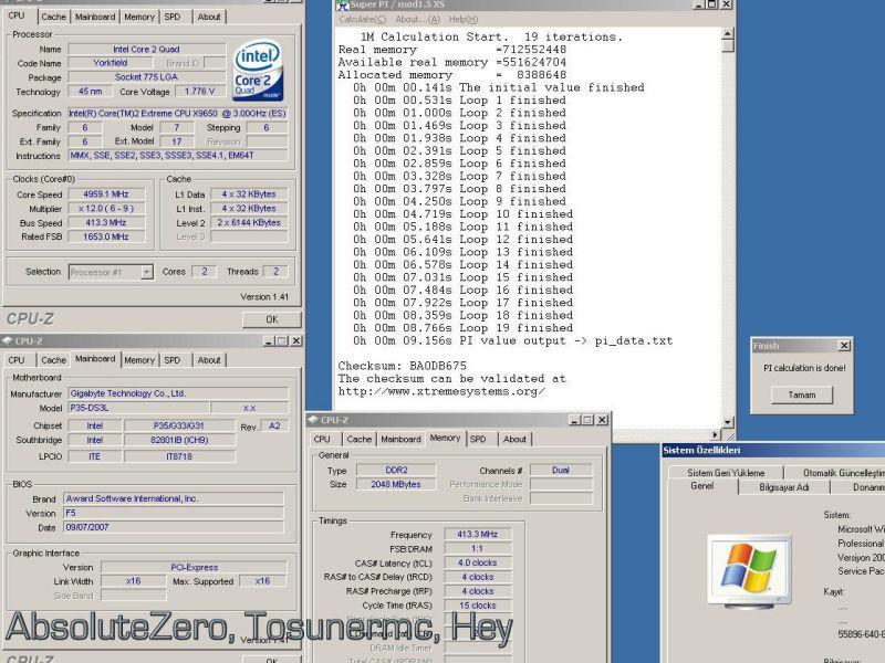 45nm Core 2 Extreme QX9650'nin ilk yerli hız aşırtma denemeleri yapıldı