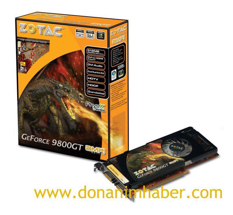 ZOTAC GeForce 9800GT AMP! Limited Edition modeini duyurdu