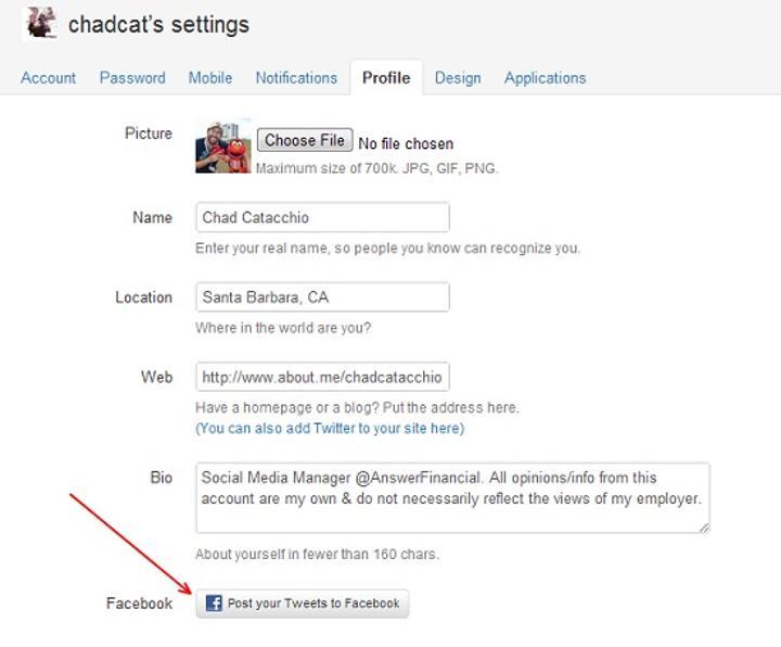 Twitter kullanıcı profillerine gönderileri Facebook'tan da yayınlama seçeneği ekledi