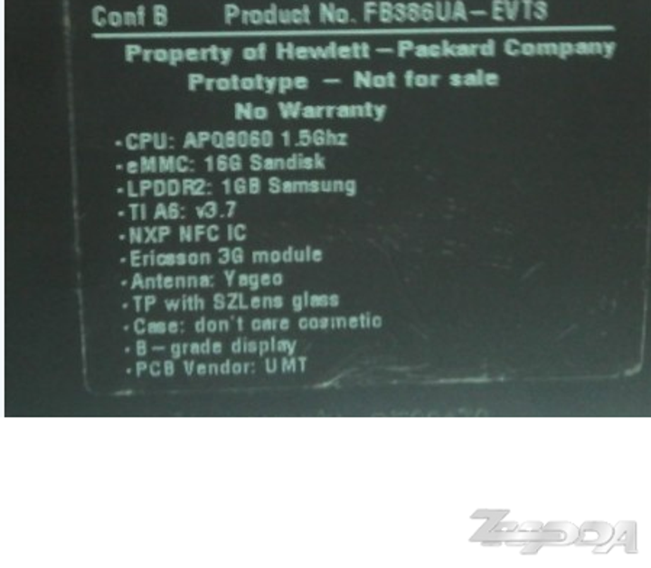 HP'nin 7 inçlik tabletinin prototipi internete sızdı