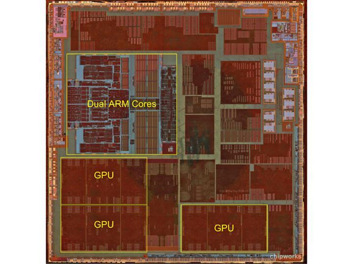 iFixit tarafından yapılan A6 incelemesinde 3 çekirdekli GPU dizilimi ortaya çıktı