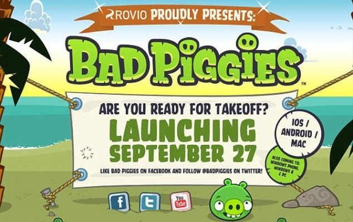 Bad Piggies yarın sahneye çıkıyor