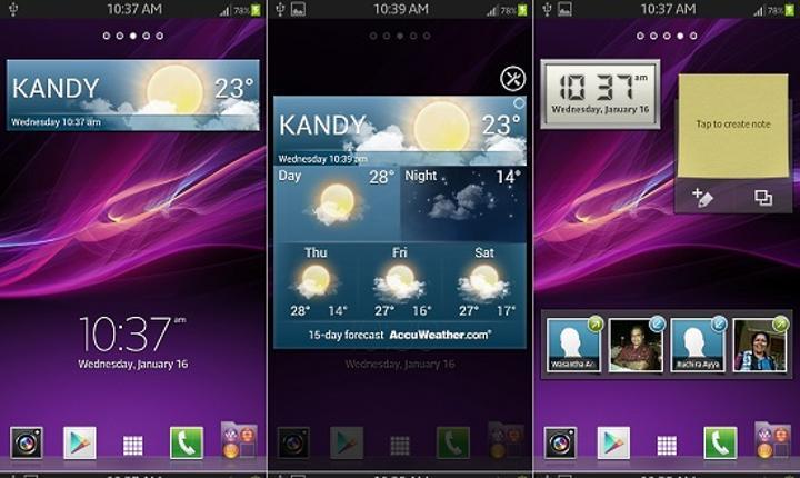 Sony Xperia Z ana ekran uygulaması bazı Samsung modellerine port edildi