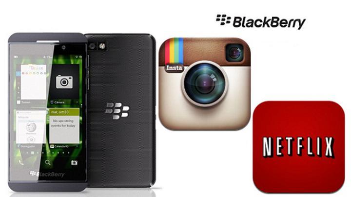 Netflix ve Instagram'ın BlackBerry 10'a gelmesi için görüşmeler sürüyor