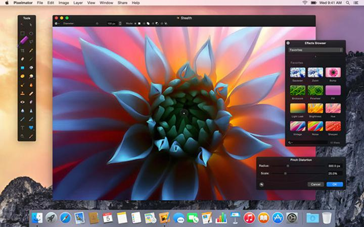 Mac uyumlu gelişmiş tasarım / fotoğraf düzenleme uygulaması Pixelmator indirimde
