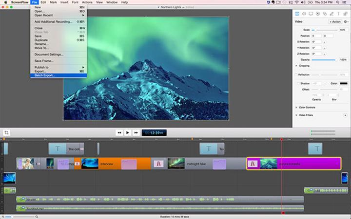 Mac için ScreenFlow 5 %50 indirimde