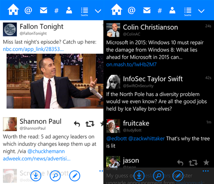 Windows Phone uyumlu Twitter istemcisi Tweetium güncellendi