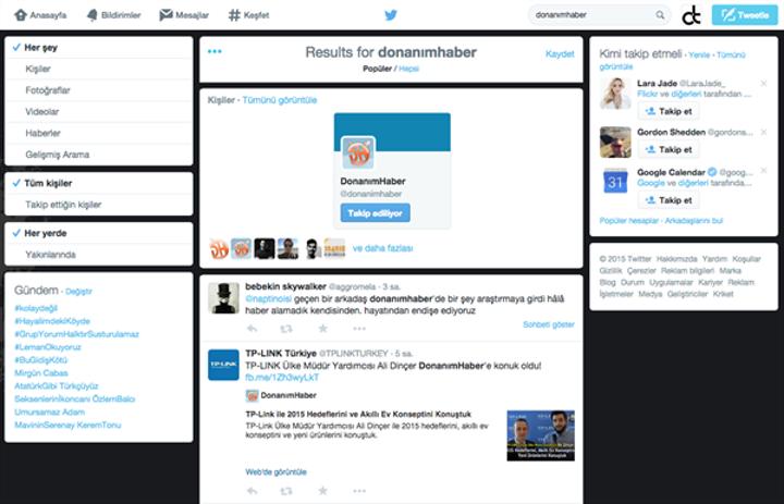Twitter, yeni arama arayüzünü test etmeye başladı