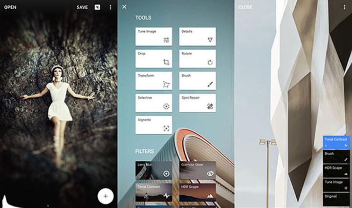 Fotoğraf odaklı uygulama Snapseed, iOS ve Android platformlarında güncellendi