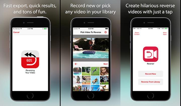 Videoları tersine çeviren iOS uygulaması Reverser bugüne özel ücretsiz