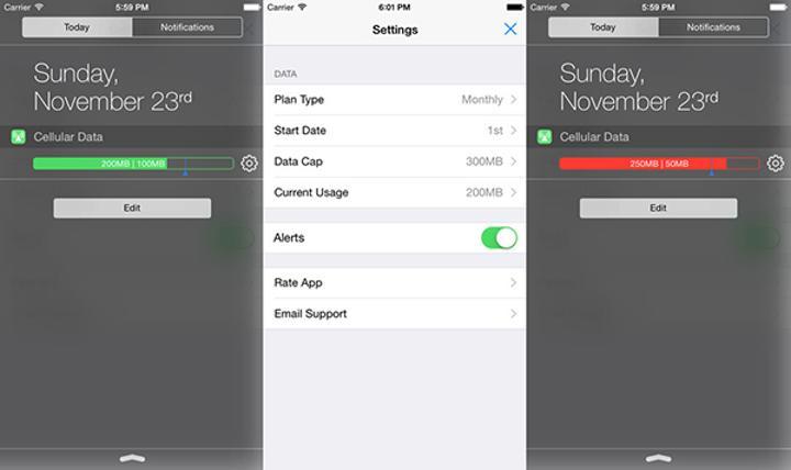 iOS uyumlu Data Widget uygulaması artık ücretsiz