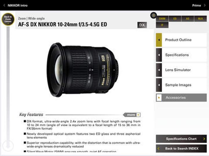 Nikon'dan iPad'e özel yeni uygulama: NIKKOR & ACC
