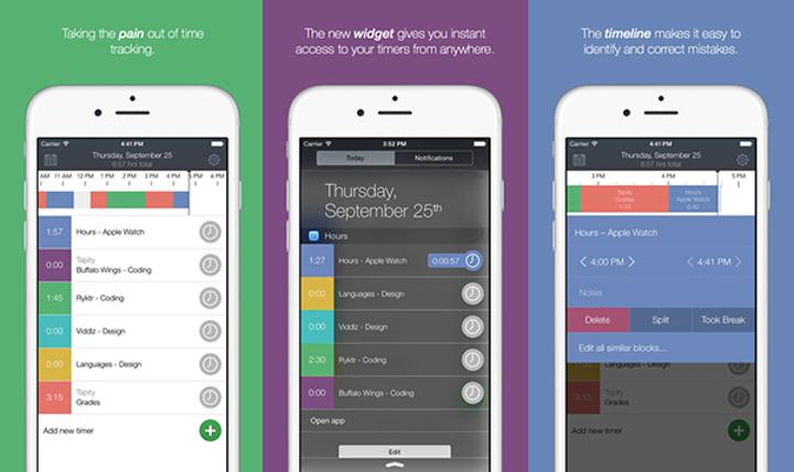 Zaman takibi odaklı iOS uygulaması Hours Time Tracking, Apple Watch'a özel olarak artık ücretsiz
