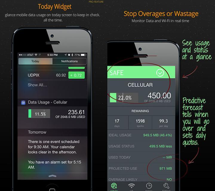 Veri takibi odaklı iOS uygulaması Data Usage artık ücretsiz
