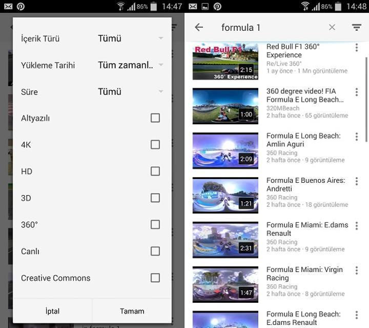 Youtube, 360 derece videoları filtreleme yeteneğine kavuştu