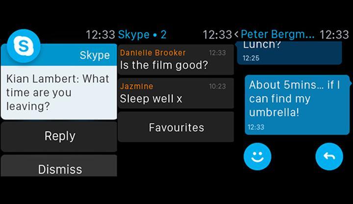 Skype'ın iOS sürümüne Apple Watch desteği getirildi