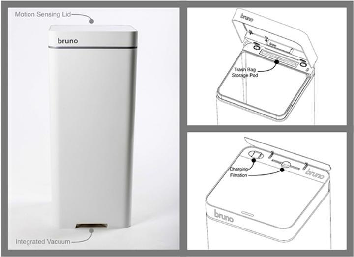 Dünyanın ilk akıllı çöp kutusu: Bruno