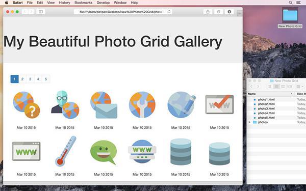 Web tasarım odaklı Responsive Photo Grid ücretsiz yapıldı