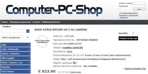 ASUS, DirectCU III soğutuculu Radeon R9 Fury STRIX kartını hazırlıyor