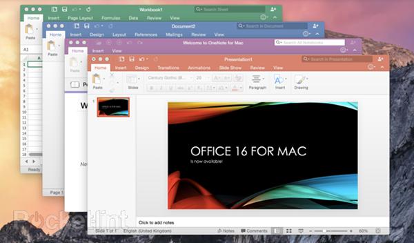 Mac için Microsoft Office 2016 kullanıma sunuldu