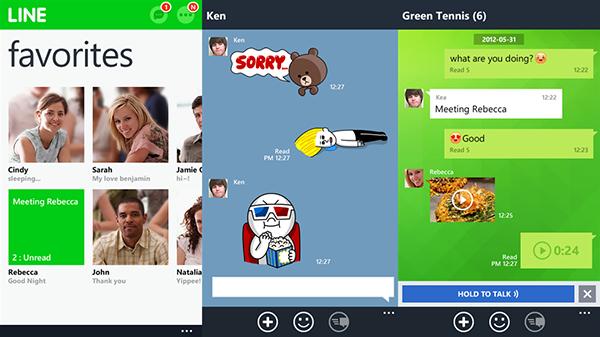 LINE, Windows Phone tarafında güncellendi