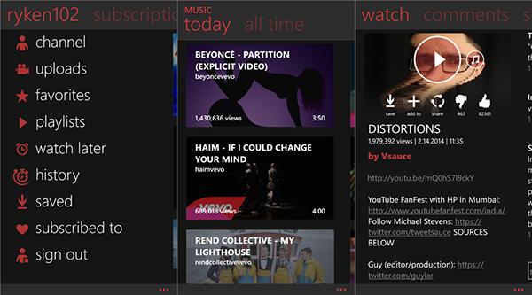 Popüler YouTube istemcisi myTube, yine geniş bir güncelleme aldı