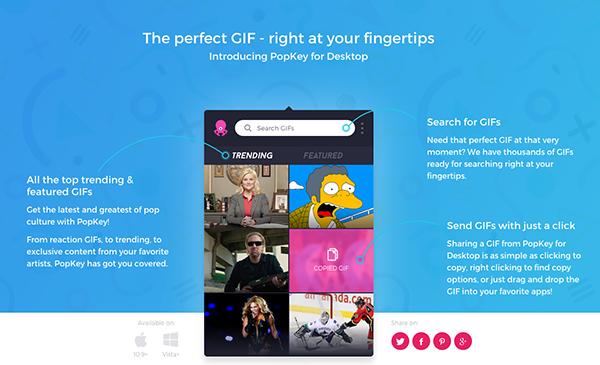 PopKey mobil GIF klavyesi masaüstü için de yayınladı