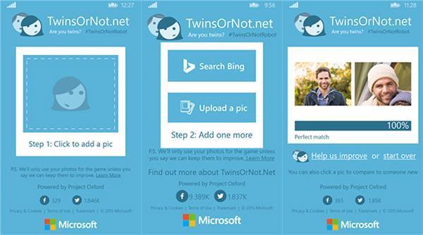 Microsoft'un TwinsOrNot uygulaması Windows Phone platformu için yayınlandı