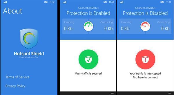 Windows Phone için Hotspot Shield Free VPN uygulaması yayınladı