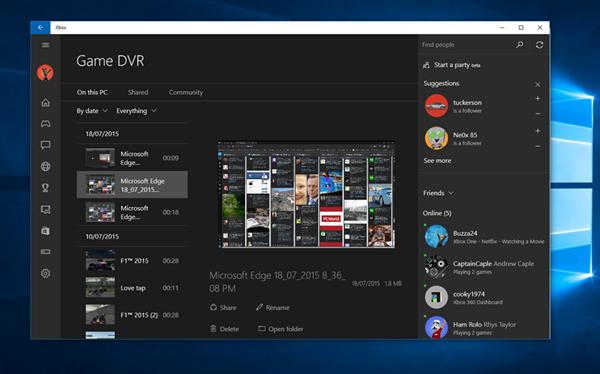 Windows 10'un gelişmiş ekran kayıt aracı ortaya çıktı