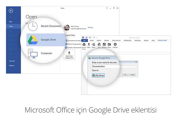 Microsoft Office için yeni Google Drive eklentisi yayınladı