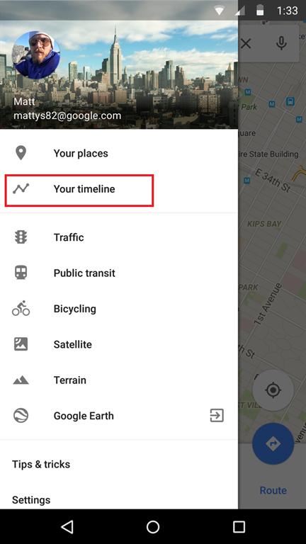 Google Haritalar uygulaması artık geçmişe yönelik hareketleri gösterebilecek