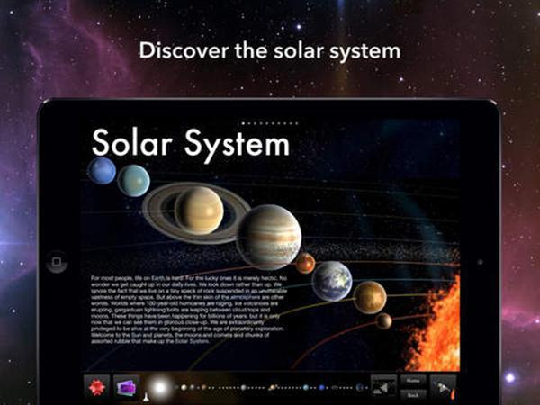 iPad için Solar System uygulaması indirimde