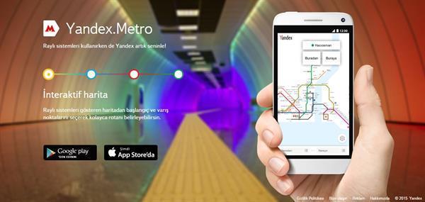 Yandex Metro uygulaması artık İstanbul için de kullanılabilir durumda