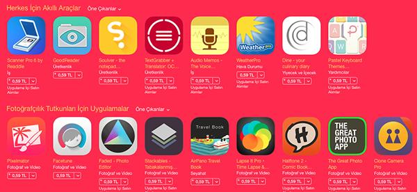 Apple'dan 100 uygulama ve oyun için düşük fiyat kampanyası