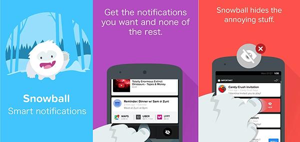 Android içn Snowball, kullanıcılara akıllı bildirim yönetimi sunuyor