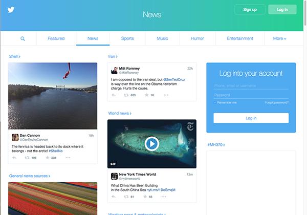 Giriş yapmayan kişiler için Twitter'ın ana sayfası yenilendi