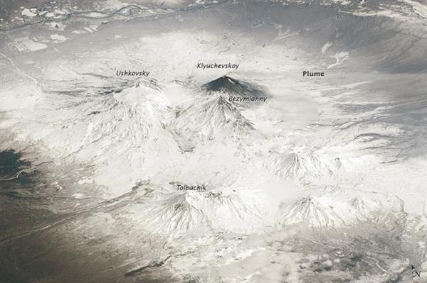 NASA Rus yanardağlarının uzaydan çekilmiş görüntülerini yayınladı